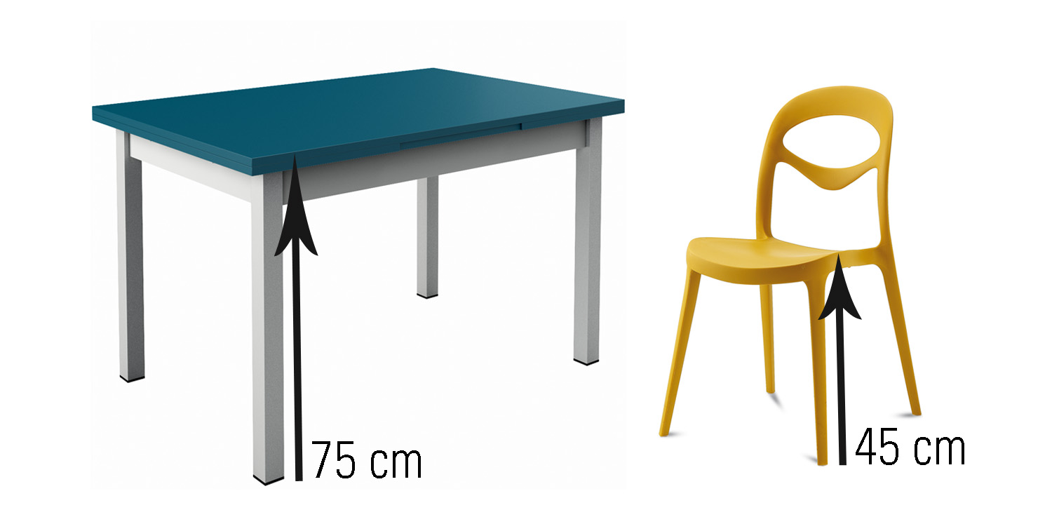 Table hauteur for Hauteur de table de cuisine